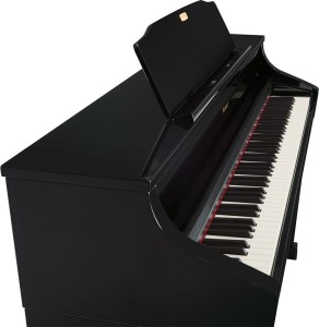 Roland HP-508 digitaalipiano hp-508-digitaalipiano-musta-kiiltava_top_angle_gal