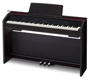 Casio Previa PX-860 digitaalipiano musta kansi auki