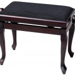GEWA Pianopenkki Deluxe Classic Ruusupuu matta Musta päällys