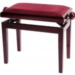 GEWA Pianopenkki Deluxe Mahonki kiiltävä Päällys Bordeaux-punainen