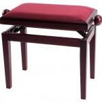 GEWA Pianopenkki Deluxe Mahonki matta Päällys Bordeaux-punainen