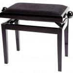 GEWA Pianopenkki Deluxe Musta kiiltävä Musta päällys