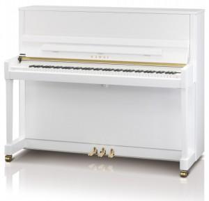 Kawai K-300 piano 122cm valkoinen kiiltävä